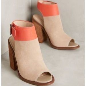 Fall Trend🍁New Antropologie Tan & Coral Booties